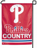 "Philadelphia Phillies 11""x15"" Garden Flag - ""Phillies Country"""