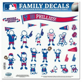 "Philadelphia Phillies 11""x11"" Family Decal Sheet"