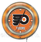 Philadelphia Flyers Neon Clock