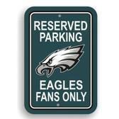 Philadelphia Eagles Plastic Parking Sign - Reserved Parking