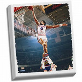 Philadelphia 76ers Julius Erving Dr J Dunk Stretched 22x26 Canvas