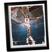 Philadelphia 76ers Julius Erving Dr J Dunk Framed Stretched 32X40 Canvas