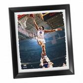 Philadelphia 76ers Julius Erving Dr J Dunk Framed Stretched 22x26 Canvas