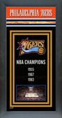 Philadelphia 76ers Framed Championship Banner