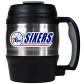 Philadelphia 76ers 52oz. Stainless Steel Macho Travel Mug with Bottle Opener