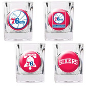 Philadelphia 76ers 4pc Square Shot Glass Set