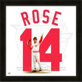 Pete Rose Cincinnati Reds 20x20 Framed Uniframe Jersey Photo