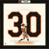 Orlando Cepeda San Francisco Giants 20x20 Framed Uniframe Jersey Photo