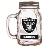 Oakland Raiders Mason Jar