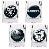 Oakland Raiders 4pc Collector's Shot Glass Set