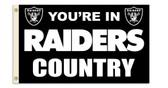 Oakland Raiders 3 Ft. X 5 Ft. Flag w/Grommets 94104B