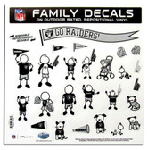 "Oakland Raiders 11""x11"" Family Decal Sheet"