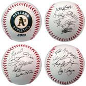 Oakland Athletics 2013 Team Roster Signature Ball