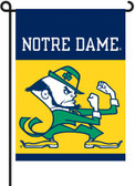 Notre Dame 2-Sided Garden Flag Set w/ #11213 Garden Pole