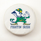 "Notre Dame Fighting Irish ""Leprechan"" White Tire Cover"