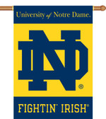 "Notre Dame 2-Sided 28"" x 40"" Banner w/ Pole Sleeve"