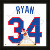 Nolan Ryan Texas Rangers 20x20 Framed Uniframe Jersey Photo