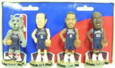 New Jersey Nets Road Jersey Mini Bobblehead Set