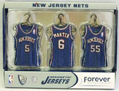 New Jersey Nets Road Jersey Magnet Set