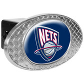 New Jersey Nets Metal Diamond Plate Trailer Hitch Cover