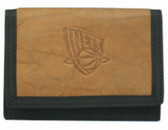 New Jersey Nets Leather/Nylon Embossed Tri-Fold Wallet