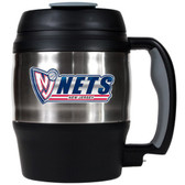 New Jersey Nets 52oz. Stainless Steel Macho Travel Mug with Bottle Opener