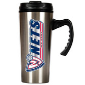 New Jersey Nets 16oz Stainless Steel Travel Mug