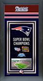 New England Patriots Framed Championship Banner