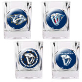 Nashville Predators 4pc Square Shot Glass Set
