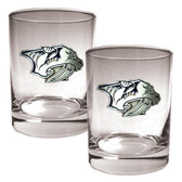 Nashville Predators 2pc Rocks Glass Set - Primary Logo