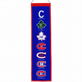 """Montreal Canadiens Wool 8""""x32"""" Heritage Banner"""