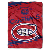 "Montreal Canadiens 60""x80"" Royal Plush Raschel Throw Blanket - Stamp Design"