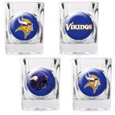 Minnesota Vikings 4pc Collector's Shot Glass Set