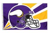 Minnesota Vikings 3'x5' Helmet Design Flag