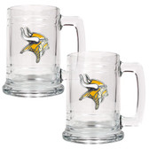 Minnesota Vikings 2pc Glass Tankard Set
