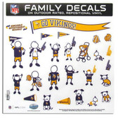 "Minnesota Vikings 11""x11"" Family Decal Sheet"