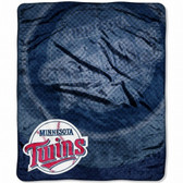 "Minnesota Twins 50""x60"" Retro Style Royal Plush Raschel Throw Blanket"