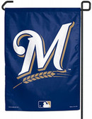 "Milwaukee Brewers 11""x15"" Garden Flag - Current Logo"