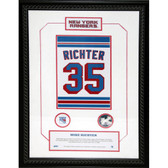 Mike Richter #35 Retired Number NY Rangers 14x20 Framed Collage w/ Nameplate