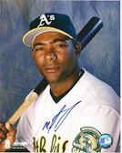 Miguel Tejada Oakland Athletics Signed 8x10 Photo #2