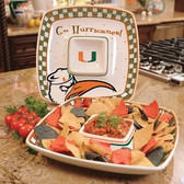 Miami Hurricanes Gameday Chip & Dip Set