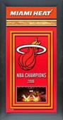 Miami Heat Framed Championship Banner