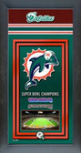 Miami Dolphins Framed Championship Banner
