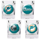 Miami Dolphins 4pc Collector's Shot Glass Set GSSC4PK2009-35