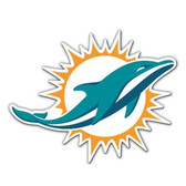"Miami Dolphins 12"" Logo Car Magnet - 2013 Logo"