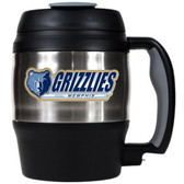 Memphis Grizzlies 52oz. Stainless Steel Macho Travel Mug with Bottle Opener