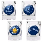 Memphis Grizzlies 4pc Square Shot Glass Set