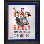 Matt Harvey and Doc Gooden Home Grown Aces Framed Unsigned Collage (Jose Lopez Design) - 18x22 7598