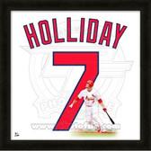 Matt Holliday St. Louis Cardinals 20x20 Framed Uniframe Jersey Photo