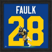 Marshall Faulk St. Louis Rams 20x20 Framed Uniframe Jersey Photo
